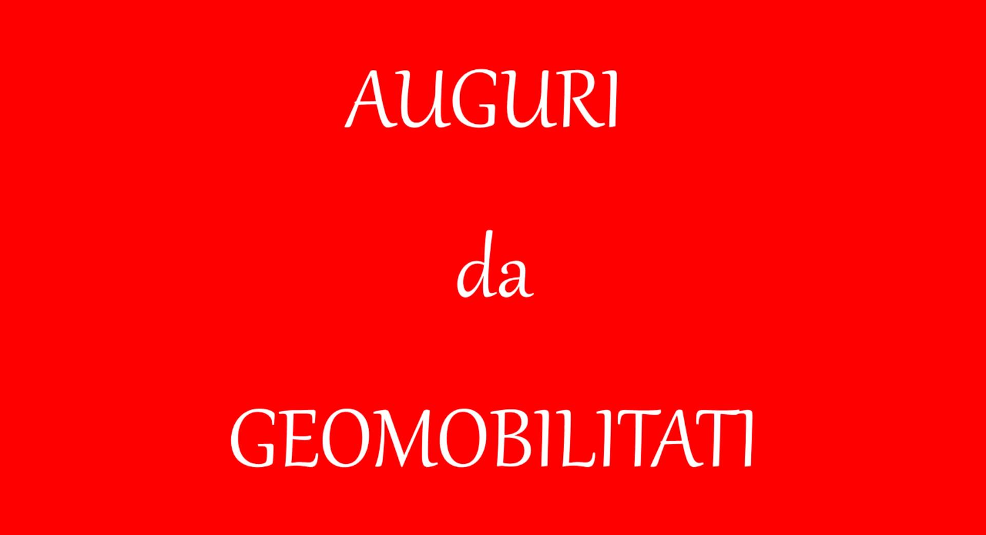 AUGURI DA GEOMOBILITATI