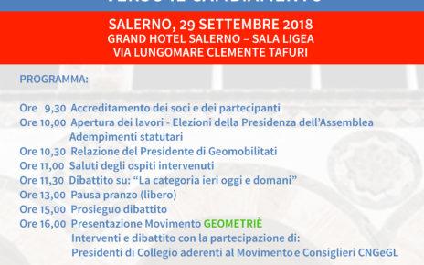 ASSEMBLEA NAZIONALE DI GEOMOBILITATI – Salerno 29 SET